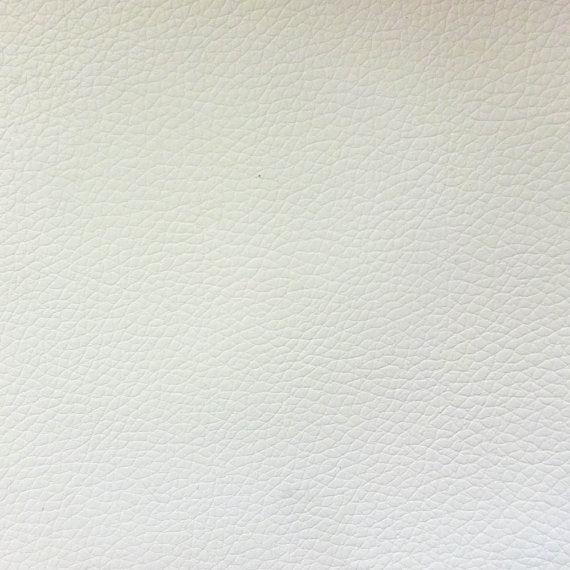 Vinyl Faux Leather Pigskin White