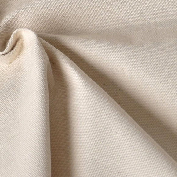 Natural Cotton Duck Canvas Fabric - 10 oz