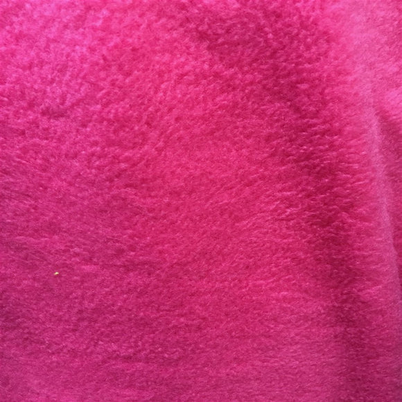 Hot Pink Solid Anti Pill Polar Fleece Fabric - Fashion Fabrics Los Angeles