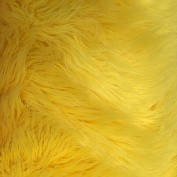 Yellow Luxury Long Pile Shaggy Faux Fur Fabric - Fashion Fabrics Los Angeles