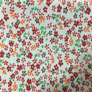Red Small Floral Print Poly Cotton Fabric - Fashion Fabrics Los Angeles