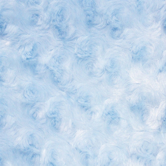 Sky Blue Swirl Rose Bud Fabric - Fashion Fabrics Los Angeles