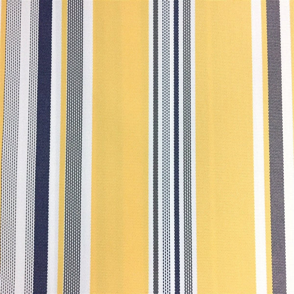 Blue Yellow White Multi Striped Oak 100% Waterproof Outdoor Canvas Patio Fabric