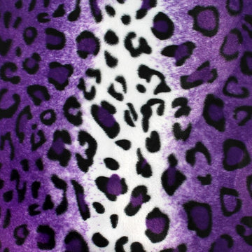Purple Leopard Velboa Faux Fur - Fashion Fabrics Los Angeles