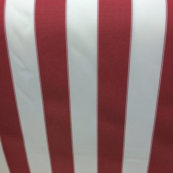 Red White Striped Outdoor Canvas Fabric - Fashion Fabrics Los Angeles