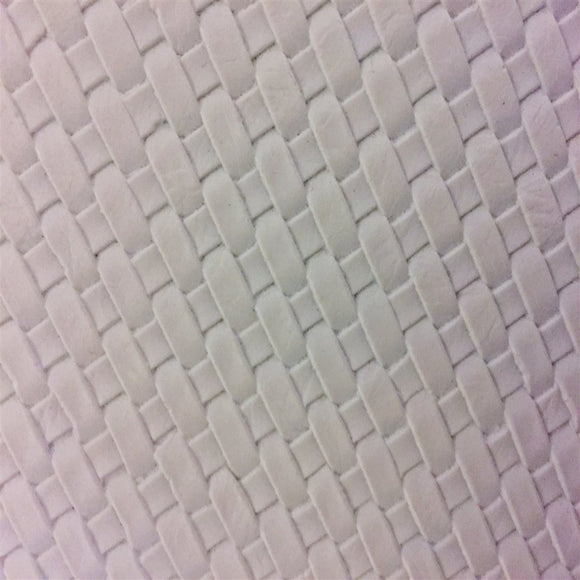 White Basket Weave Vinyl - Fashion Fabrics Los Angeles