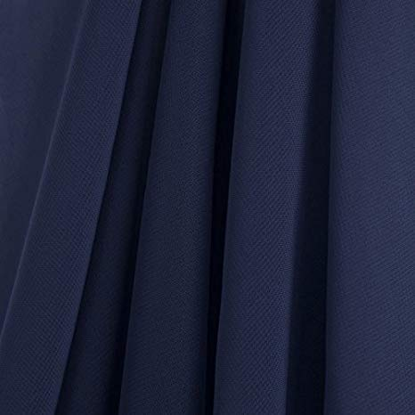 Navy Stretch Chiffon Fabric - Fashion Fabrics Los Angeles