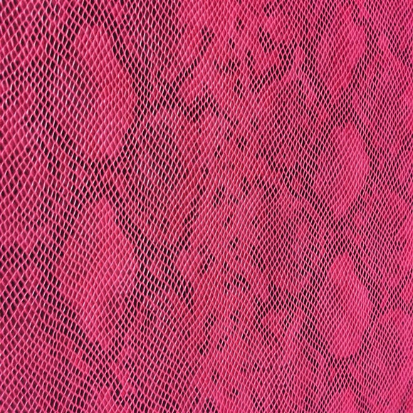 Pink Matte Python Snake Skin Vinyl Fabric - Fashion Fabrics Los Angeles