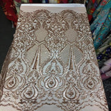 Black Chantal Deluxe Sequins Lace Fabric - Fashion Fabrics Los Angeles