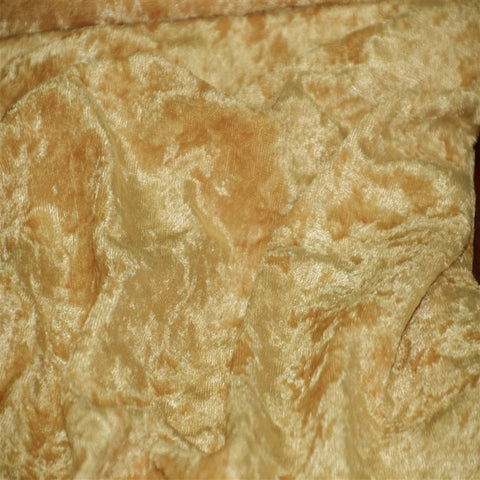Gold Panne Crush Stretch Velvet Fabric - Fashion Fabrics Los Angeles
