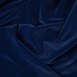 Navy Velvet Flocking Fabric - Fashion Fabrics Los Angeles