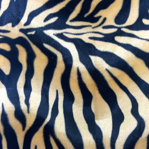 Brown Big Zebra Velboa Faux Fur Fabric