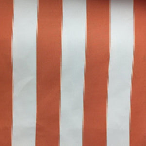 Orange / Ivory Striped Outdoor Fabric