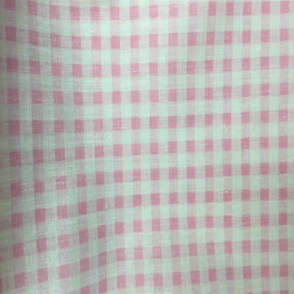 Light Pink White Mini Checkered Poly Cotton Fabric - Fashion Fabrics Los Angeles