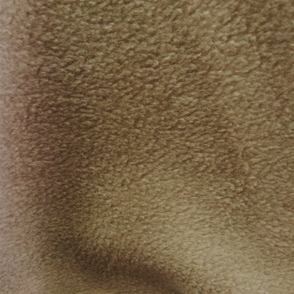 Camel Brown Solid Anti Pill Polar Fleece Fabric - Fashion Fabrics Los Angeles