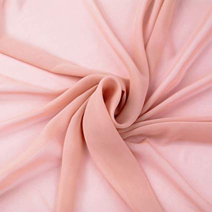 Dusty Rose Stretch Chiffon Fabric - Fashion Fabrics Los Angeles