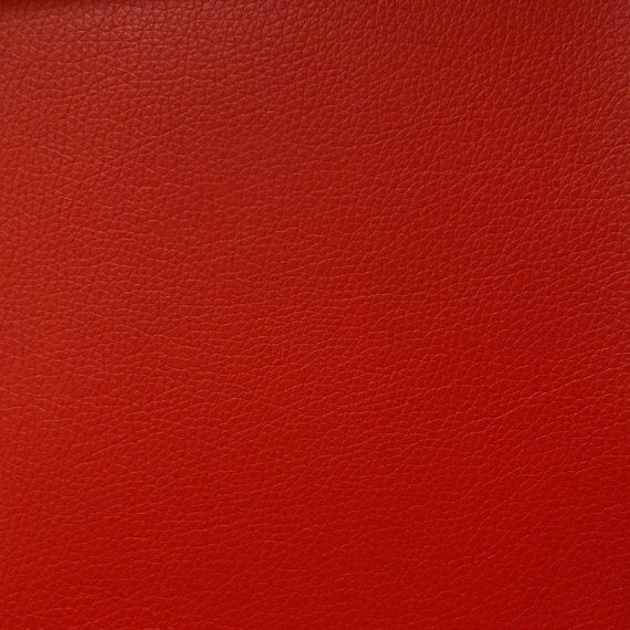 Vinyl Faux Leather Pigskin Red
