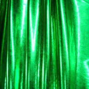 Metallic Green Spandex Apparel Fabric - Fashion Fabrics Los Angeles