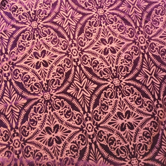 Purple Lili Burnout Stretch Velvet Spandex Fabric
