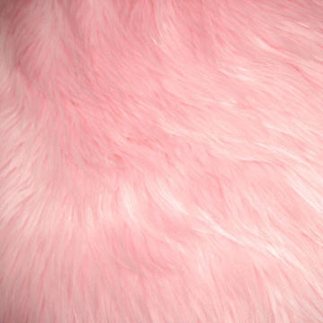 Pink Luxury Long Pile Shaggy Faux Fur Fabric - Fashion Fabrics Los Angeles