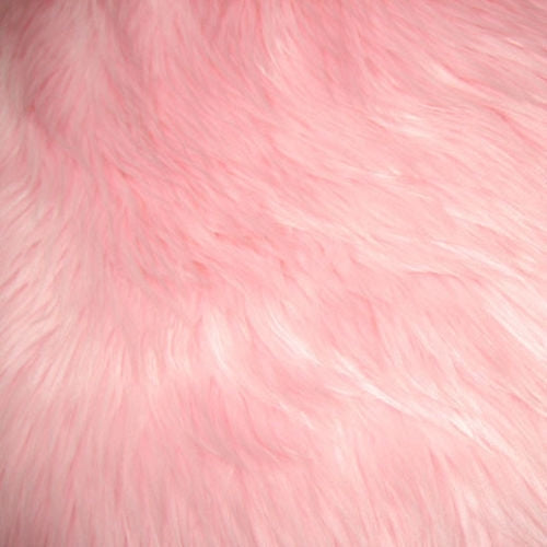 Pink Luxury Long Pile Shaggy Faux Fur Fabric