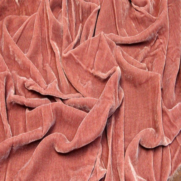 Mulberry Pink Silk Velvet Fabric - Fashion Fabrics Los Angeles