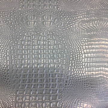 Silver Gray 2 Tone Metallic Gator Vinyl - Fashion Fabrics Los Angeles