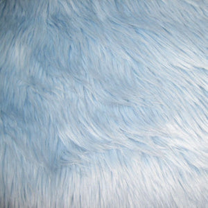 Baby Blue Luxury Long Pile Shaggy Faux Fur Fabric - Fashion Fabrics Los Angeles