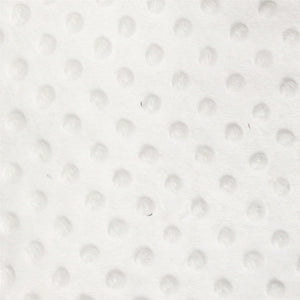 White Minky Dimple Dot Fabric