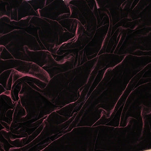 Dark Burgundy Silk Velvet Fabric - Fashion Fabrics Los Angeles