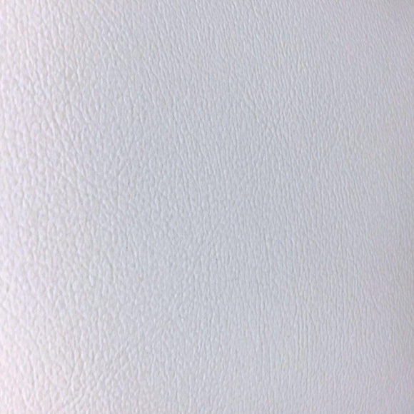 White Soft Skin PVC Faux Leather Vinyl Fabric