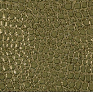 Lime Green Crocodile Vinyl Fabric - Fashion Fabrics Los Angeles