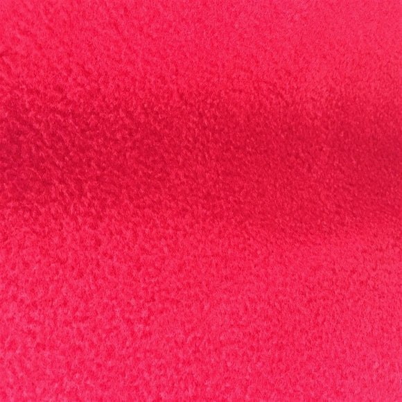 Red Solid Anti Pill Polar Fleece Fabric