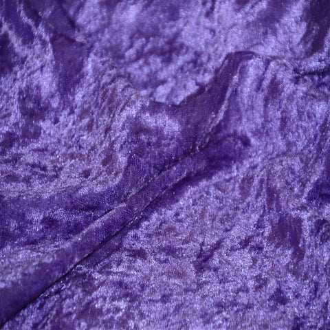 Purple Panne Crush Stretch Velvet Fabric