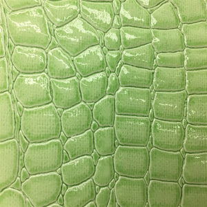 New Lime Crocodile Vinyl Fabric
