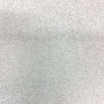 Silver White Sparkle Glitter Vinyl Fabric - Fashion Fabrics Los Angeles