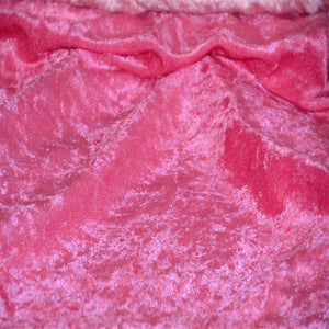 Fuchsia Panne Crush Stretch Velvet Fabric - Fashion Fabrics Los Angeles