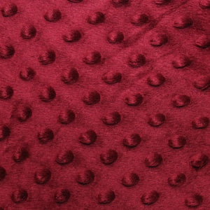 Burgundy Minky Dimple Dot Fabric - Fashion Fabrics Los Angeles