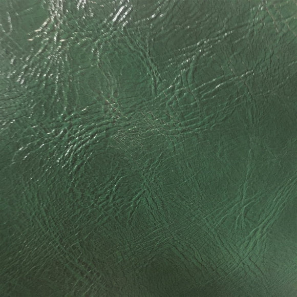 Hunter Green Distressed Faux Leather Fabric - Fashion Fabrics Los Angeles