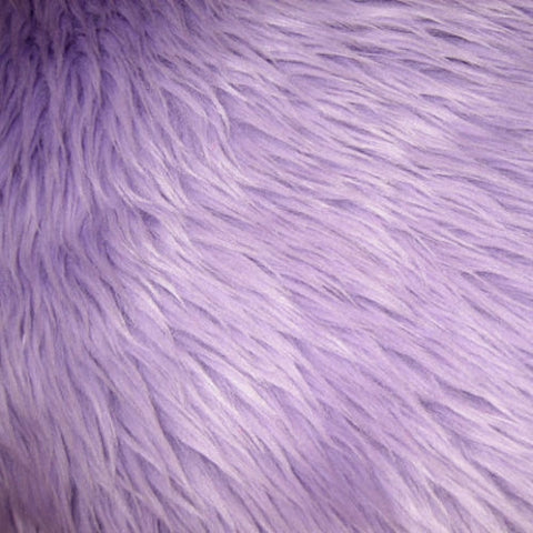 Lavender Luxury Long Pile Shaggy Faux Fur Fabric - Fashion Fabrics Los Angeles