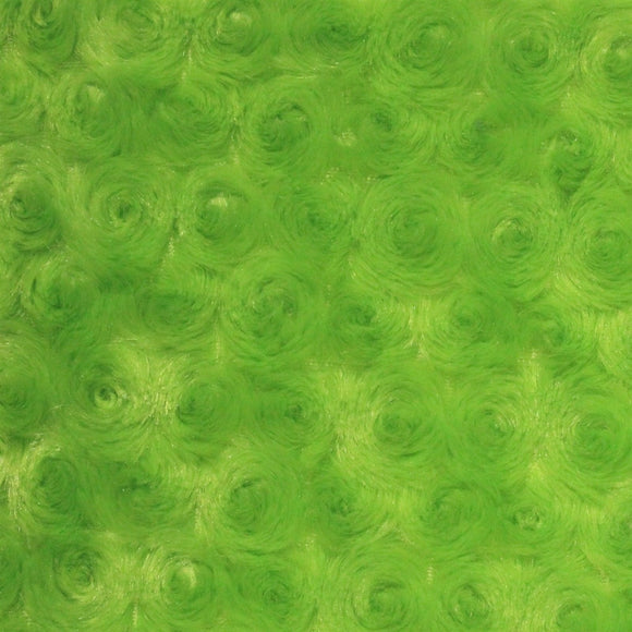 Lime Swirl Rose Bud Fabric - Fashion Fabrics Los Angeles