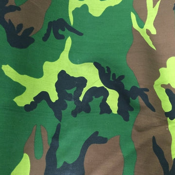 Light Dye Camouflage Army Poly Cotton Fabric - Fashion Fabrics Los Angeles