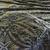Black Lili Burnout Stretch Velvet Spandex Fabric - Fashion Fabrics Los Angeles