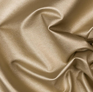 Gold Two Way Stretch Vinyl Fabric - Fashion Fabrics Los Angeles