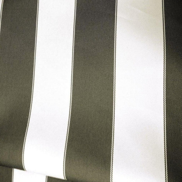 Black White Striped Outdoor Canvas Fabric - Fashion Fabrics Los Angeles