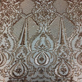 Blush Chantal Deluxe Sequins Lace Fabric - Fashion Fabrics Los Angeles