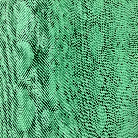 Green Matte Python Snake Skin Vinyl Fabric - Fashion Fabrics Los Angeles