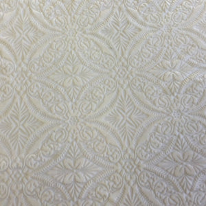 White Lili Burnout Stretch Velvet Spandex Fabric