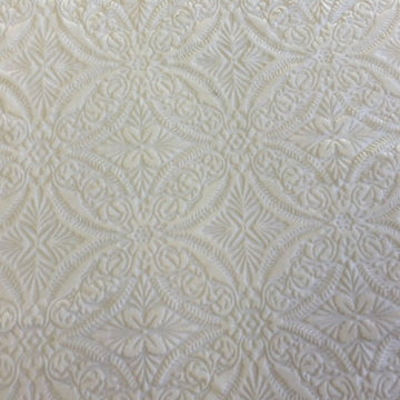 White Lili Burnout Stretch Velvet Spandex Fabric - Fashion Fabrics Los Angeles
