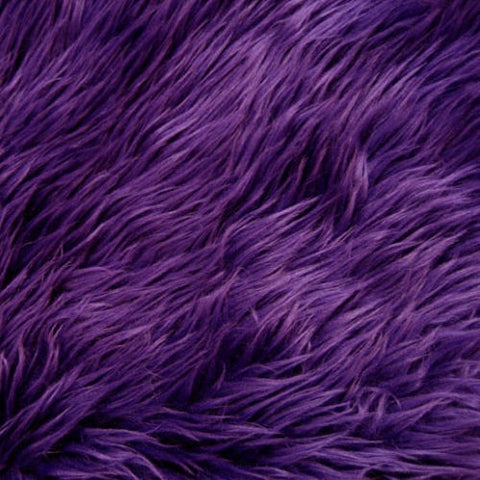 Purple Luxury Long Pile Shaggy Faux Fur Fabric